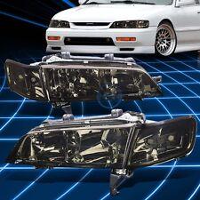 Fit 1994-1997 Honda Accord JDM Smoked Crystal Clear Lens Corner Signal Headlight