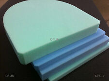 Dining chair seat pads * Upholstery foam cushions. Firm replacement foam cushion