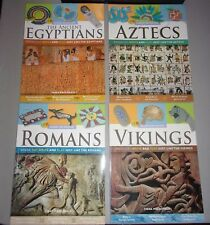 Set of 4 HANDS ON HISTORY Project Books - Vikings Aztecs Romans Egyptians Crafts