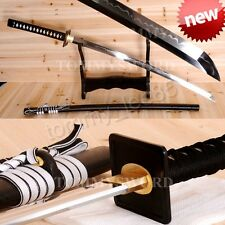 Full Tang Samurai Katana Japanese Sword T10 Steel Clay Tempered Battle Sharp