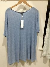 Eileen fisher Blue Poncho. Size Large.