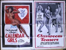 8 Alluring Titillating Bawdy Sexploitation original movie posters 1970s-80s