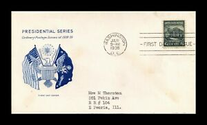 DR JIM STAMPS US WHITE HOUSE PRESIDENTIAL SERIES FIRST DAY ISSUE COVER