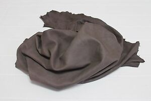 Italian soft Lambskin leather hide hides skin skins NATURAL BROWN 6sqf #A2480