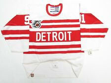 FEDOROV DETROIT RED WINGS AUTHENTIC 75TH ANNIVERSARY CCM 6100 JERSEY SIZE 48