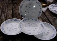 "CORELLE PROVINCIAL BLUE  LOT OF 4  LUNCHEON PLATES 8.5""  ""BRAND NEW "" BARCODES"