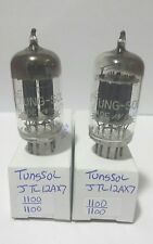 Date Matching Tung Sol JTL 12AX7 Vacuum Tubes Tested Good On Calibrated Hickok