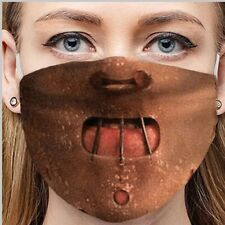 Hannibal Lecter Face Mask Silence Of The Lambs Halloween Scary Cannibal