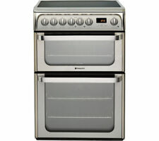 Hotpoint Ultima HUE61XS Double Oven Ceramic Cooker-Stainless Steel