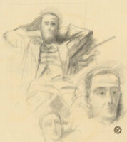 Frank Griffith (1889-1979) - Early 20th Century Charcoal Drawing, Sitting Man
