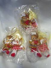 Vintage Retro Boy Girl Doll Swinging flocked Christmas Ornaments 6 Lot JAPAN