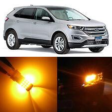 Alla Lighting Front Turn Signal Light 3157AK Amber LED Bulbs for 07~14 Ford Edge