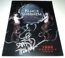 BLACK SABBATH~Signed~REUNION~1999~TOUR PROGRAM~Butler~Iommi~Ward~Osbourne