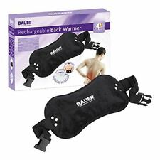 Bauer Black Rechargable Electric Hot Water Bottle Back Treatment Pad with Cover