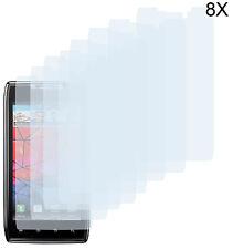 8 X Pellicola Protettiva Motorola Razr xt910 xt912 PELLICOLA PROTETTIVA DISPLAY TRASPARENTE CLEAR