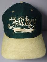 Vintage 1990s MICKEY MOUSE Walt Disney Advertising Green & Tan SNAPBACK HAT CAP