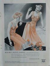 1943 Mujer Bur-Mil Rayón Burlington Mills sin Vestido Vintage Lencería Anuncio