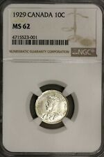 Canada 1929 10 Cents 10 C  NGC MS 62