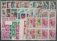 FRANCOBOLLI - 1964/68 FRANCIA LOTTO FRANCOBOLLI IN QUARTINA MNH E/1809