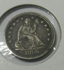 US 1856  Seated Liberty Silver Quarter Dollar. Fine - VF. Estate Clearance Sale