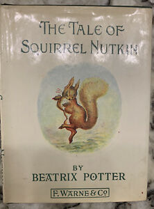 Vintage Frederick Warne Beatrix Potter Squirrel Nutkin Wooden Puzzle 1981 30 Pieces