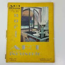 Vintage French ART & INDUSTRIE Magazine Dec 1928 Art Deco Photos Auto Ads  a7