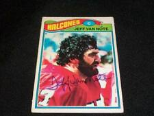 Falcons Jeff Van Note Signed 1977 Topps Mexican 327 JSA