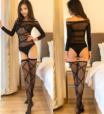 Tuta Calza Bodystocking Body Catsuit Intimo Sexy Calze Parigine Velate Aderente