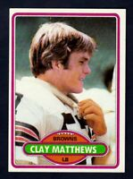 1980 Topps #418 Clay Matthews RC rookie card Cleveland Browns NM near mint cond