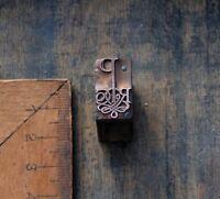 Kupferdruckstock Galvano Klischee Art Nouveau Deco Jugendstil Druckstock print