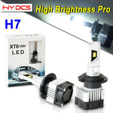 2PCS H7 LED Headlight Bulbs for VW Golf 99-2006 Jetta 2006-2018 Passat 1998-2017