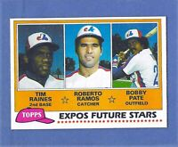 1981 Topps Tim Raines Rookie Montreal Expos #479 MINT Condition & Well Centered!