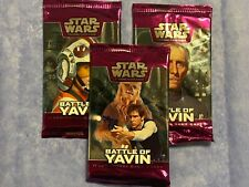 RARE STAR WARS WOTC BATTLE OF YAVIN x3 LOT Sealed TCG Card Booster Packs