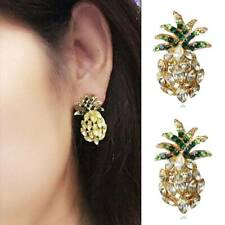 Fashion Pineapple Crystal Drop Dangle Earrings Rhinestone Earrings Jewelry Gifts