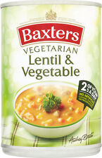 Baxters Vegetarian Lentil & Vegetable Soup  3 x 400g