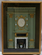 MAGNIFICENT ENGLISH MINIATURE OF AN INTERIOR BY SUSAN ROGERS & KEVIN MULVANY
