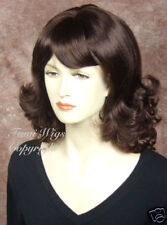 Classic Wig In Dark aubur With Highlights /100% Japanese Fibre Brilliant Quality