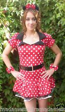 SEXY COSTUME MINNIE MOUSE COMPLETE OUTFIT Fancy Party Dress Hen Night Halloween