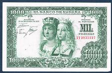 BILLET de BANQUE D'ESPAGNE.1000 PESETAS Pick n°149.a du 29-11-1957 SUP 1Y3935137
