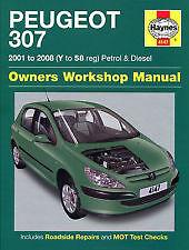 Haynes Owners + Workshop Car Manual Peugeot 307 Petrol + Diesel (01- 08) 4147