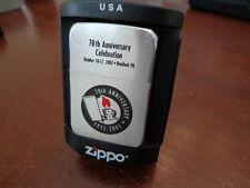 ZIPPO 2002 70TH ANNIVERSARY EMPLOYEE/ SALES CELEBRATION ZIPPO LIGHTER MINT  RARE