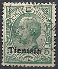 1917-18 TIENTSIN USATO 5 CENT - RR11960