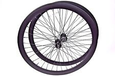 700C Alloy Wheelset 43mm Matte Flat Black Fixie Freewheel Single Speed