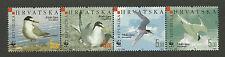 WWF WORLD WILDLIFE FUND CROATIA 2006 BIRDS STRIP 4v MNH