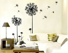 NEW DIY Dandelion Flowers Black Wall Art Decal Stickers Home Living Room Adorn