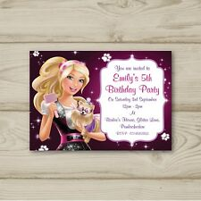 Barbie Birthday Party Invitations Personalised