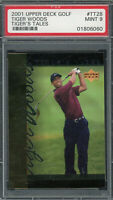 Tiger Woods 2001 Upper Deck Tiger's Tales Golf Card #TT28 Graded PSA 9 MINT