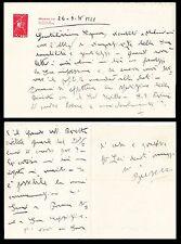Andrea Busetto, scrittore futurista. Lettera manoscritta e firmata. 1935