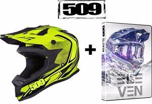 509 Altitude Neon Voltage Snowmobile Helmet + Free DVD