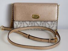 MICHAEL KORS Damen Tasche JET SET ITEM LG PHONE CROSSBODY vanilla-gold PVC/Leder